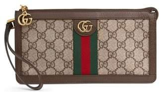 Gucci GG Supreme Canvas Travel Wristlet