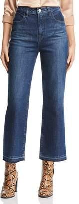 J Brand Joan Crop Wide-Leg Jeans in Cosmic