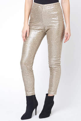 Honey Punch Gold Sequin Skinny Pant