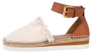 See by Chloe Leather Ankle Strap Flats