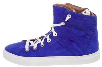 Aquazzura Suede High-Top Sneakers