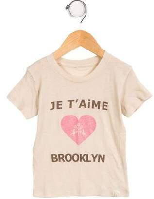 Atsuyo et Akiko Girls' Je T' Aime Brooklyn T-Shirt w/ Tags