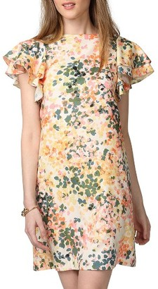 Women's Donna Morgan Flutter Sleeve Shift Dress $118 thestylecure.com