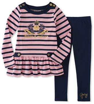 Juicy Couture Two-Piece Striped Top and Leggings Set