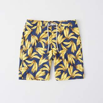 Abercrombie & Fitch A&F Men's Classic Boardshorts in Navy Blue BANANA - Size 33