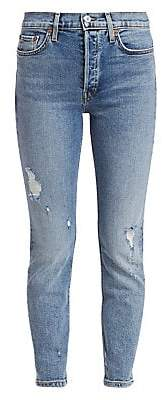 RE/DONE Women's High Rise Ankle Crop Skinny Jeans