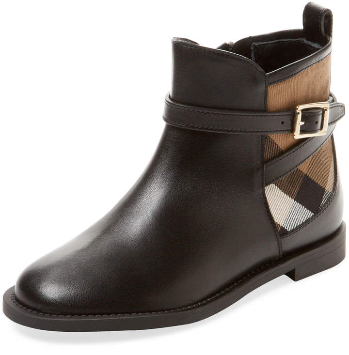 Burberry Emroidered Canvas Boot