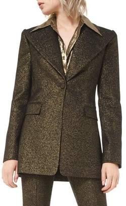 Michael Kors Metallic Wool Blazer