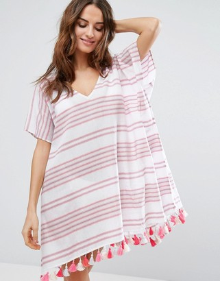 Seafolly Spaced Stripe Caftan $83 thestylecure.com