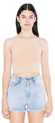 American Apparel Women's Cotton Spandex Sleeveless Crop Top $17.22 thestylecure.com