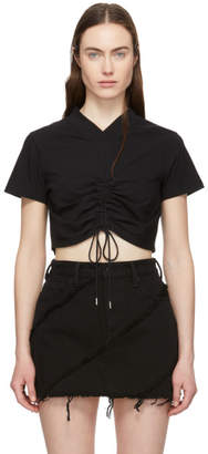 Alexander Wang Black Ruched T-Shirt