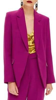 Topshop Long-Sleeve Suit Jacket