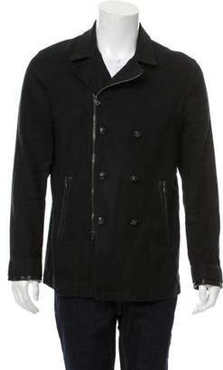 John Varvatos Double-Breasted Peacoat
