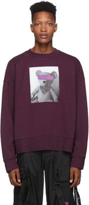 Palm Angels Burgundy Bear Sweatshirt