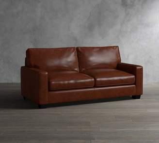 Pottery Barn PB Comfort Leather Square Arm Sleeper Sofa