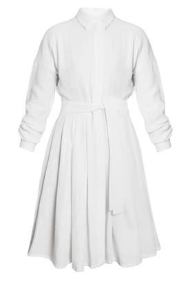 UNDRESS - Tacenda White Linen Circle Skirt Summer Occasion Mini Dress