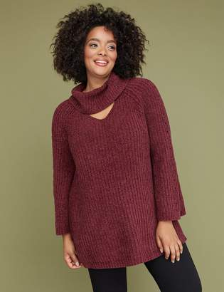 Lane Bryant Chenille Choker-Neck Sweater