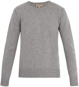 Burberry Crew-neck cashmere-blend sweater