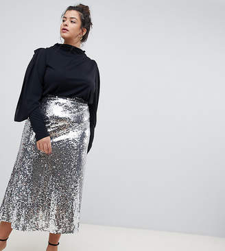 6b4273a5cd1b7 Plus Size Sequin Skirt - ShopStyle Australia
