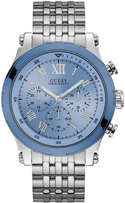 GUESS Men Chronograph Stainless Steel Bracelet Watch 46mm