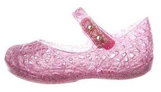 Mini Melissa Girls' Glitter Cutout Flats