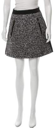 Moncler Virgin Wool-Blend Mini Skirt Black Virgin Wool-Blend Mini Skirt