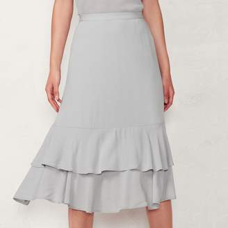 Lauren Conrad Women's Tiered Midi Skirt