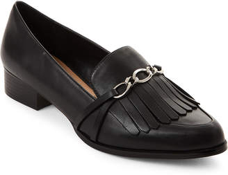 Tahari Black Langley Pointed Toe Loafers