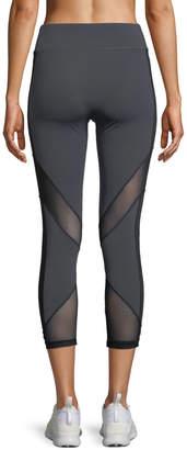 Cushnie et Ochs Nuria Cropped Performance Leggings with Mesh Inserts