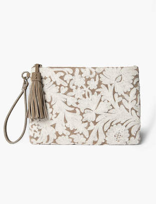 Lucky Brand EMBROIDERED FLORAL POUCH