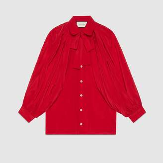 Gucci Silk shirt with neck bow