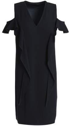 Elie Tahari Micaela Cold-Shoulder Ruffle-Trimmed Crepe Mini Dress