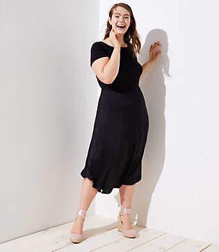 LOFT Plus Modern Mixed Media Dress