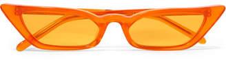Cat Eye Poppy Lissiman - Le Skinny Cat-eye Acetate Sunglasses - Orange
