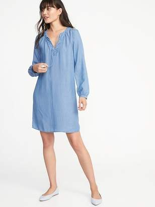 Old Navy Tencel® Tie-Neck Shift Dress for Women