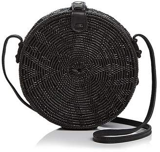 Street Level Circle Straw Crossbody