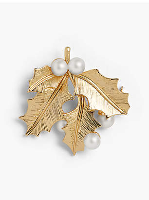Talbots Holiday Brooch Collection - Pearl and Holly