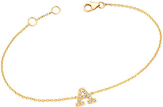 Ariana Rabbani 14K Diamond A-Z Bracelet