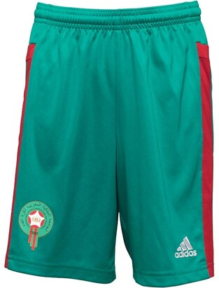 adidas Boys Morocco 3 Stripe Climacool Goalkeeper Football Shorts Bright Green/Power Red/White