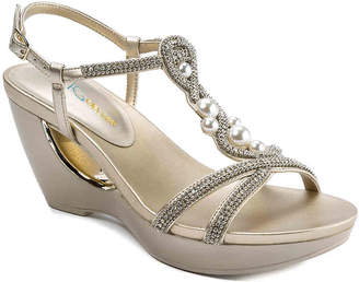 Andrew Geller Allisandra Wedge Sandal - Women's