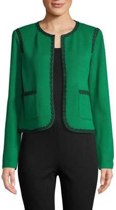 St. John Women's Open Front Wool-Blend Jacket