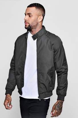 boohoo Raglan Harrington Jacket With Sports Tipping