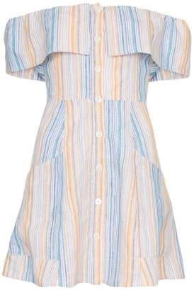 Reformation 'Landy' off the shoulder linen dress