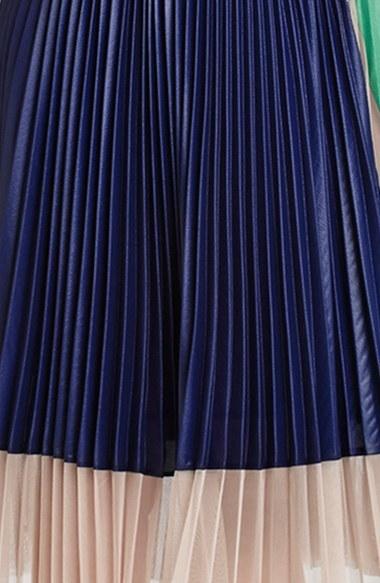 BCBGMAXAZRIA 'Kabrina' Pleated Fit & Flare Dress