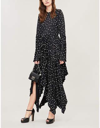 KHAITE Greta polka dot-patterned crepe dress