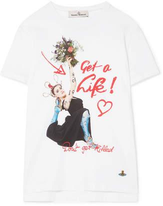 Vivienne Westwood Peru Printed Organic Cotton-jersey T-shirt - White