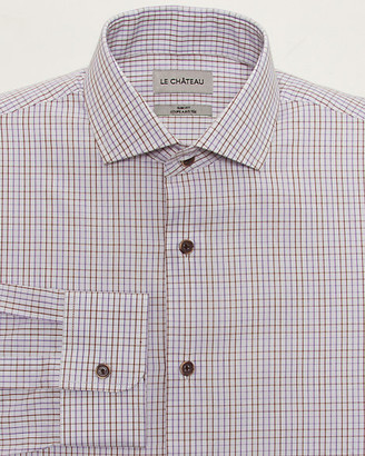 Le Château Check Print Cotton Slim Fit Shirt