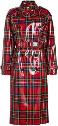 Burberry Laminated Tartan Coat in Wool