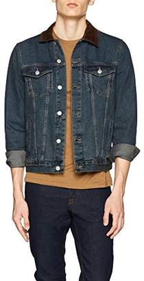 New Look Men's 5644278 Jacket, Blue (Denim Only) 46, (Size:51)