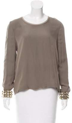 Chloé Embellished Silk Top